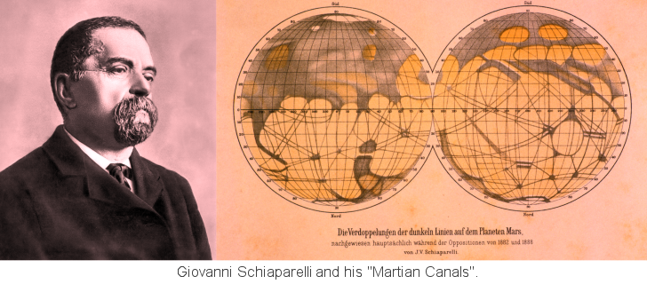 Schiaparelli and his Martian Canals