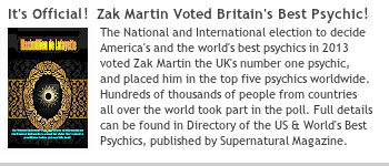 Zak Martin Voted UK's Best Psychic